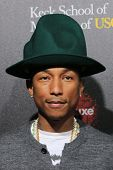 LOS ANGELES - MAR 20:  Pharrell Williams at the 2nd Annual Rebels With A Cause Gala at Paramount Stu