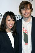 LOS ANGELES - MAR 23:  Maurissa Tancharoen, Jed Whedon at the PaleyFEST 2014 -