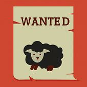 Black Sheep On Wanted Paper, Business Conceptual