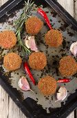 Spicy Meat Balls With Rosemary And Chili