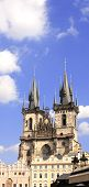 Old Town Square, Tyn Church, Prague, Czech Republic