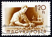 Postage Stamp Hungary 1955 Carpenter