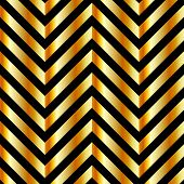 Optical illusion with gold bars