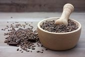 foto of cocoa beans  - Crushed organic cocoa beans with chunks of pure chocolate - JPG
