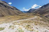 stock photo of aconcagua  - Aconcagua the highest mountain in the Americas at 6 - JPG