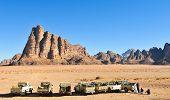 The Seven Pillars Of Wisdom In Wadi Rum, Jordan