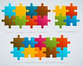 Parts Of Colorful Puzzles.
