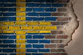 Dark Brick Wall With Plaster - Sweden