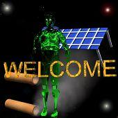 Green Man Invites