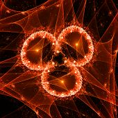 Red Fractal Object