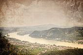 Danube river and a small castle