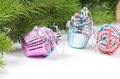 Christmas retro tree cupcake toys