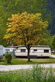 Campsite with caravans