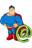 A Cartoon Superhero Character