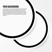 Vector abstract circles template. web design