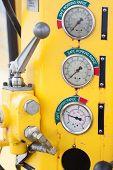 Meters or gauge in crane cabin