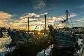 Coastal city, dalian, China, sunrise