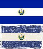 Salvador grunge flag. Vector illustration.
