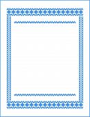 frame for cross-stitch embroidery Blue colors