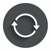 Rotation icon. Repeat symbol. Refresh sign.