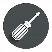 Screwdriver tool sign icon. Fix it symbol.