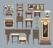 Interior decorations in a retro style