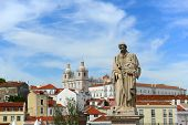 Statue of Santa Luzia in Lisbon, Portugal