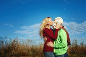 Passionate Kiss On Nature