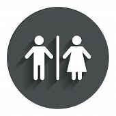 WC sign icon. Toilet symbol.