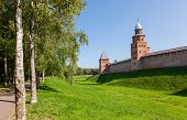 Walls Of The Novgorod Kremlin, Russia. Was Founded In 1044