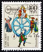 Postage Stamp Germany 1995 Carl Orff, Composer