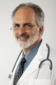 Doctor With Glasses And Lab Coat
