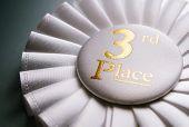 3Rd Place White Winners Rosette