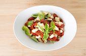 Bruschetta With Olive Oil, Sundried Tomatoes, Feta And Fresh Basil