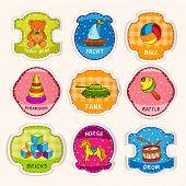 Toys labels sketch