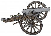 image of cannon  - Hand drawing of a classic historical cannon - JPG