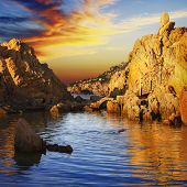 Sunset in Sardinia, Costa Paradiso