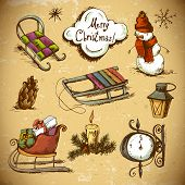 Set of Doodles Design New Year  Elements