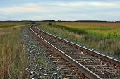 Railroad Tracks On The Prairie