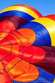 Detail of hot air balloon