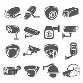pic of cctv  - set of 16 video surveillance - JPG