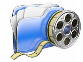 Video Folder With A Film Reel.