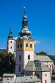 Castle tower in town of Banska Bystrica, Slovakia