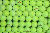 Fly Emirates Wilson tennis balls at Billie Jean King National Tennis Center