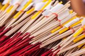 Red And Yellow Incense Sticks