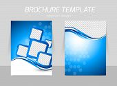 Back and front flyer template design