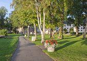 VADSTENA, SWEDEN ON SEPTEMBER 08. Outside Vadstena Abbey