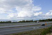EUROPEAN ROUTE 4, SWEDEN ON SEPTEMBER 08. Traffic on E4.