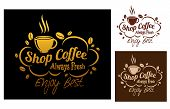 Shop coffeesymbols or banners