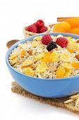 muesli cereals isolated on white background